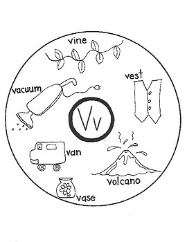ALPHABET WORD CIRCLE MAPS for Early Learners (U-V-W-X)