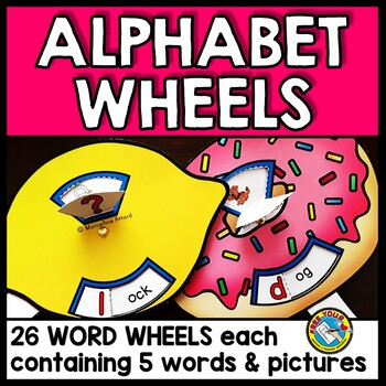 ALPHABET CRAFTS (ALPHABET SPINNERS) BEGINNING SOUND ACTIVITY KINDERGARTEN