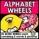 ALPHABET CRAFTS (ALPHABET SPINNERS) BEGINNING SOUNDS KINDERGARTEN