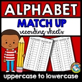 ALPHABET WORKSHEETS A-Z FOR MATCH UP CENTERS (RECORDING SHEETS)