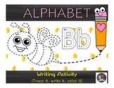 ALPHABET TRACING WORKSHEETS-TRACE AND COLOR IT!