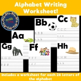 ALPHABET WRITING WORKSHEETS.