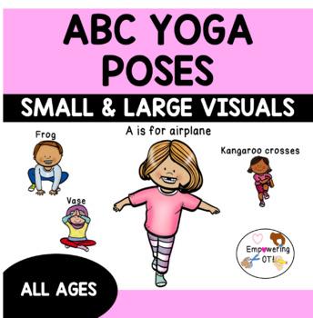 alphabet yoga / abc yoga poses small  large visuals