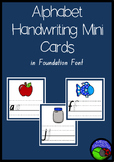 ALPHABET mini handwriting cards in FOUNDATION FONT