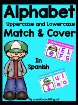 ALPHABET upper and lowercase MATCH & COVER