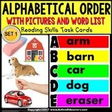 "ALPHABETICAL ORDER Associating Pictures and Words TASK CARDS ""Task Box Filler"""