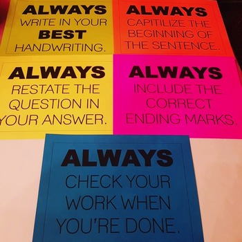 ALWAYS Posters (Writing Reminders)