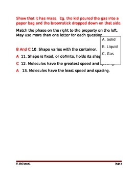 ALesson 06 Bill Nye Phases of Matter Answers