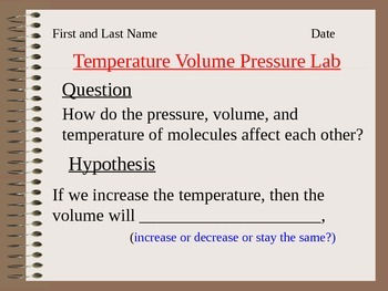 ALesson 09 Temp Volume Pressure Lab Answers