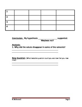 ALesson 11 Solubility Lab Worksheet