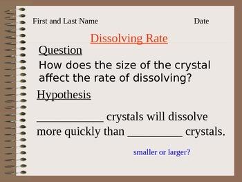 ALesson 12 Dissolving Rate Lab