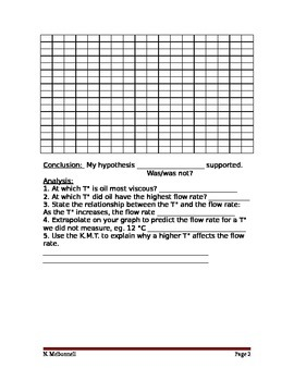 ALesson 14 Viscosity of Oil Lab Worksheet