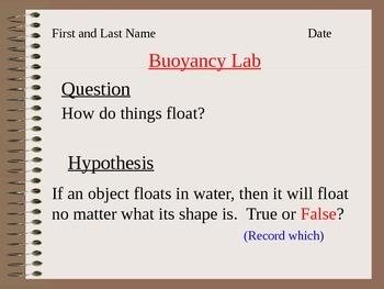 ALesson 16 Buoyancy Lab Answers