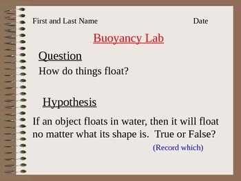 ALesson 16 Buoyancy lab