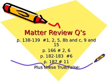 ALesson 19 Matter Review Questions