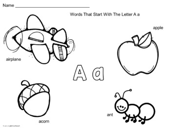 Alphabet Bracelets and Color Sheets