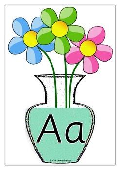 Alphabet on Vases - Upper and Lower Case