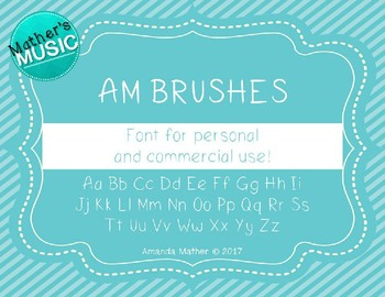AM Brushes Font - Commercial Use