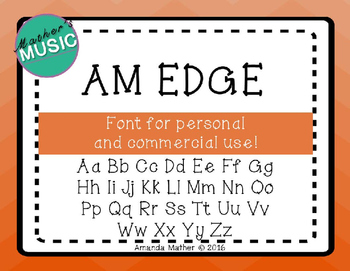 AM Edge Font - Commercial Use