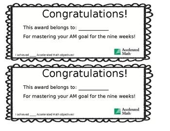 AM Goal Certificate