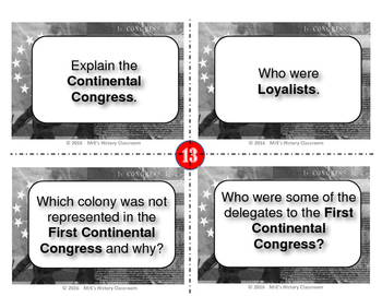 HISTORY  The Spirit of Independence TaskCards