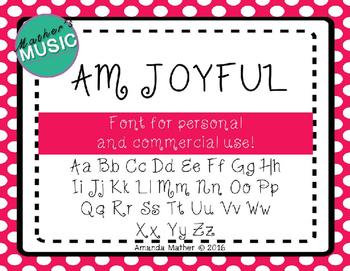 AM Joyful Font - Commercial Use