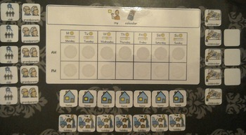 AM PM Home / School Calendar and Cards - Boardmaker Visual Aids for Autism