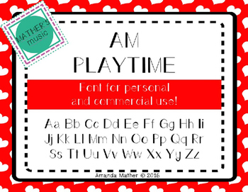AM Playtime Font - Commercial Use