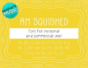 AM Squished Font - Commercial Use