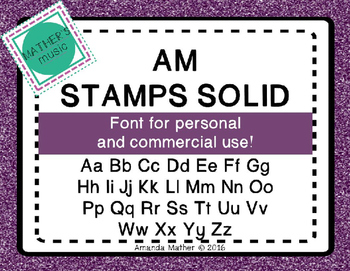 AM Stamps Solid Font - Commercial Use