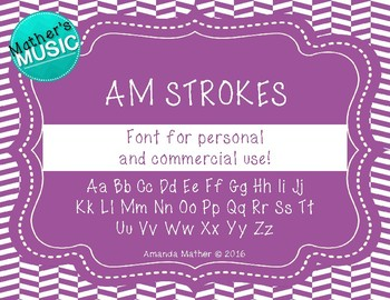 AM Strokes Font - Commercial Use