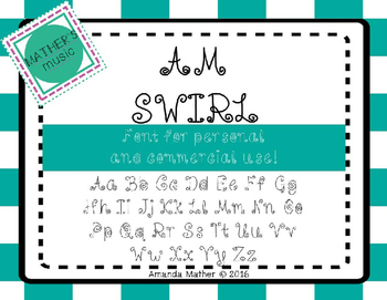 AM Swirl Font - Commercial Use