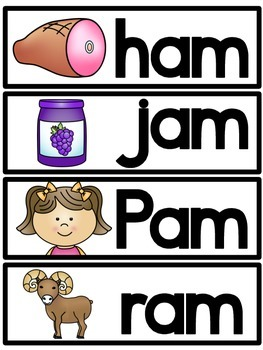 -am Word Family Cards FREEBIE