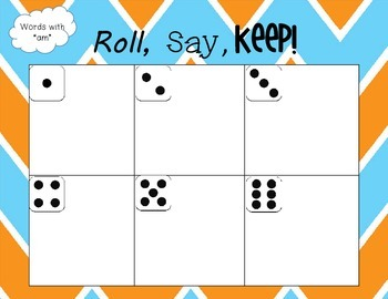 """""""-Am"""" Word Family Games [Roll, Say, Keep]"""