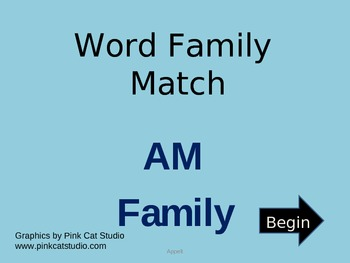 AM Word Family Powerpoint Game