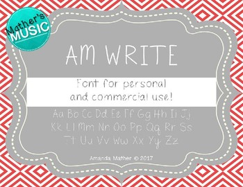 AM Write Font - Commercial Use
