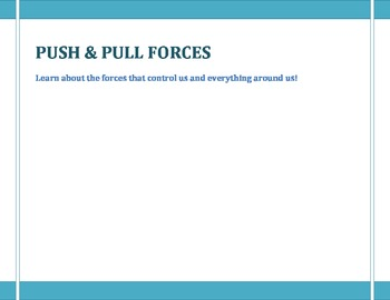 AMAZING FORCES: Push & Pull