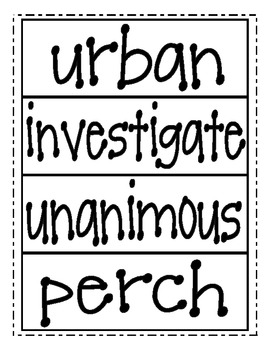 AMAZING WORD CARDS- Reading Street Second Grade (2013 Edition)