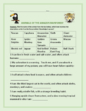 AMAZON RAINFOREST: AN ANIMAL KNOWLEDGE ACTIVITY, GRADES 4-8