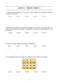 AMC 8 (American Math Competition) MOCK Test 1 and Solutions