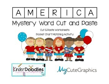 AMERICA Beginning Sounds Mystery Word Puzzle