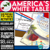 Memorial Day Reading AMERICA'S WHITE TABLE Activities and Read Aloud Lessons