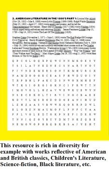 AMERICAN AND BRITISH LIT WORD SEARCHES