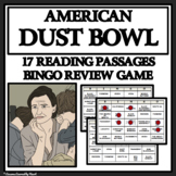 AMERICAN DUST BOWL - Reading Passages and Bingo Review Game