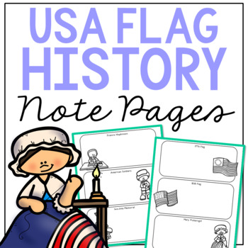 AMERICAN FLAG Research Activity | American History Illustrated Note Pages