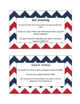 AMERICAN HEROES: Game/Review Cards