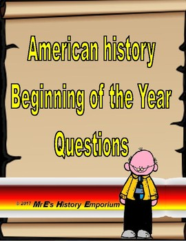 AMERICAN HISTORY        Beginning of the Year Projects