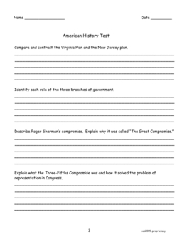 AMERICAN HISTORY TEST