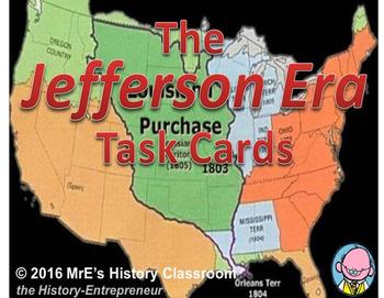 AMERICAN HISTORY  The Jefferson Era Task Cards