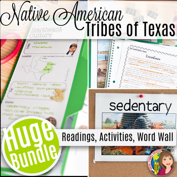 NATIVE TRIBES OF TEXAS LAP BOOK AND READINGS
